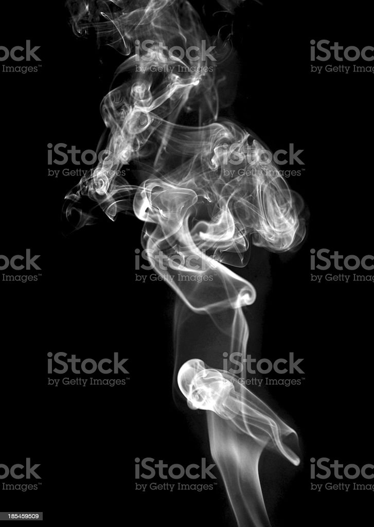 Abstract white  smoke isolated on black stock photo
