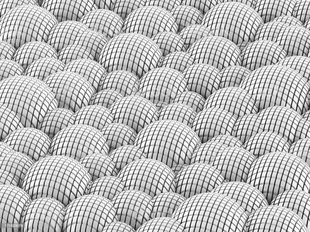 Abstract white spheres background stock photo