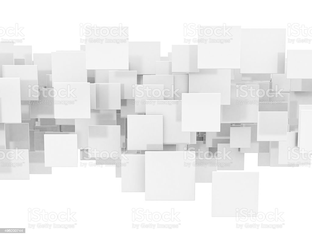 Abstract white square background stock photo