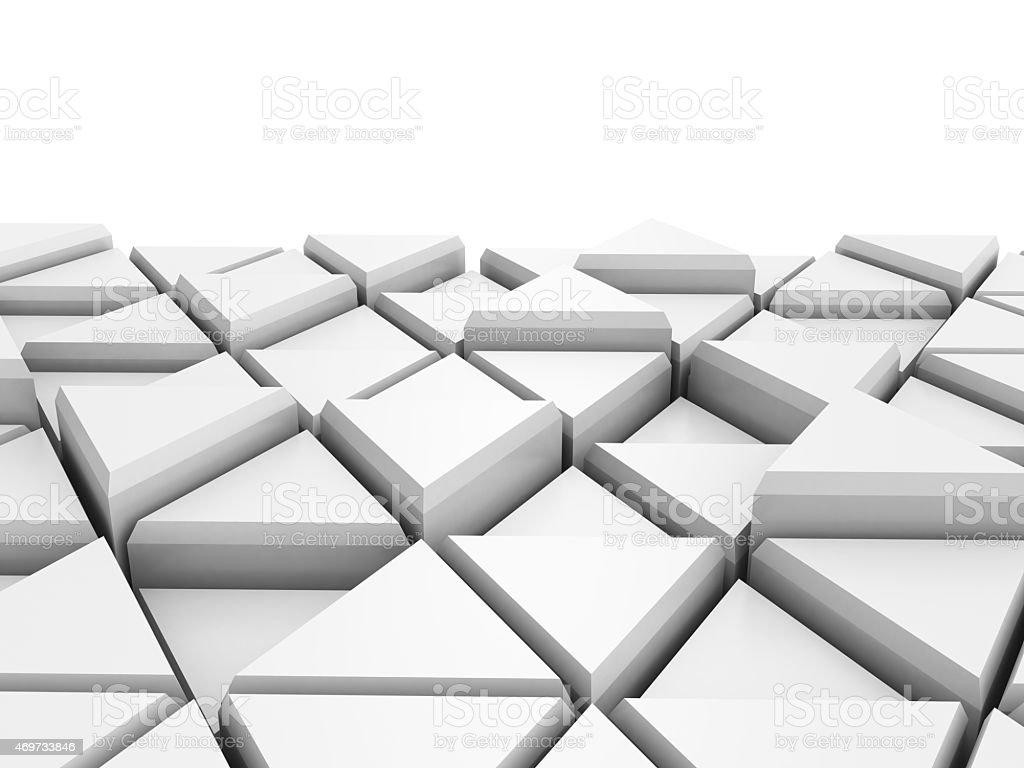Abstract White Triangle Blocks Background stock photo