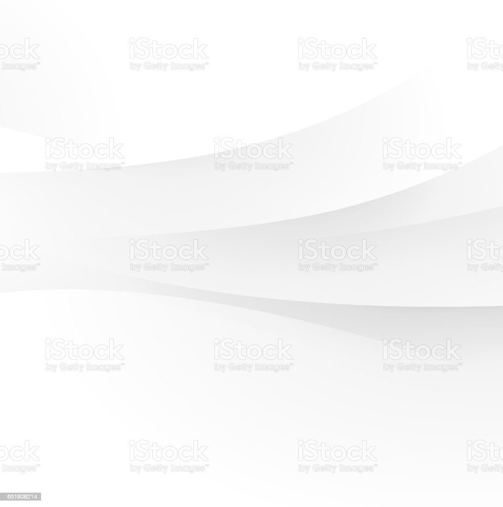 Abstract white wave vector art illustration