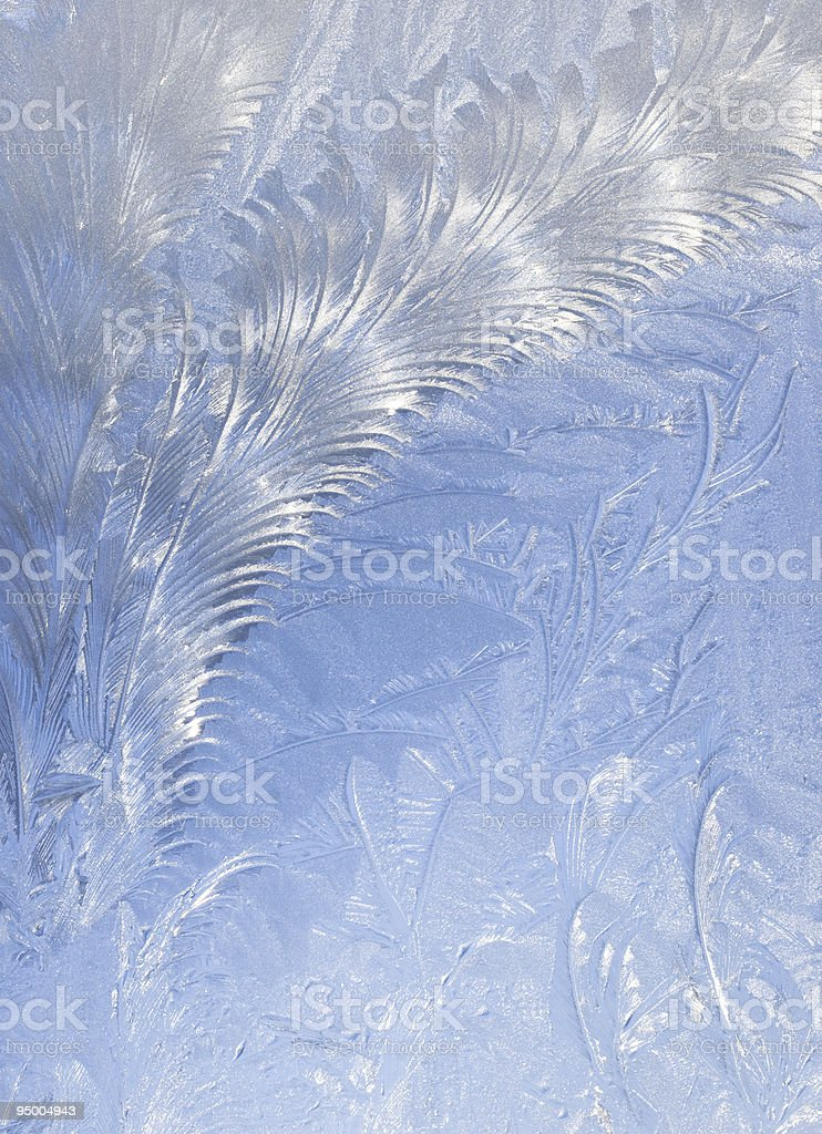 Abstract window frost background royalty-free stock photo