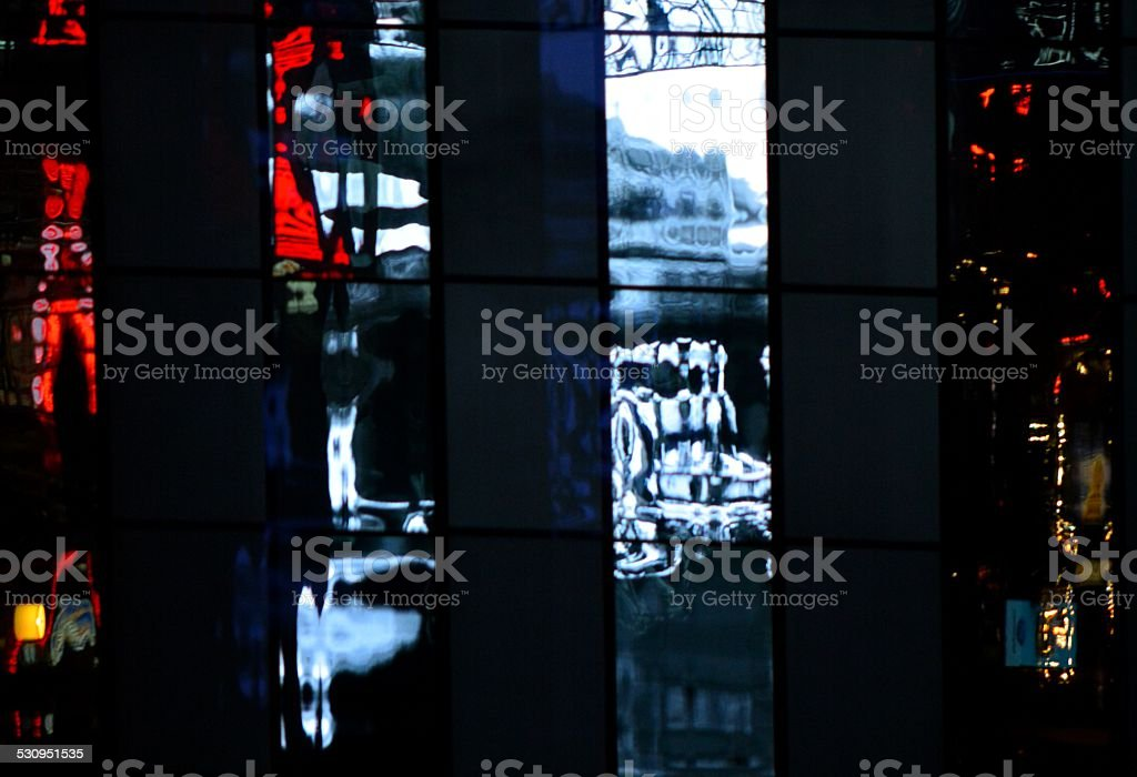Abstract Window Reflections stock photo