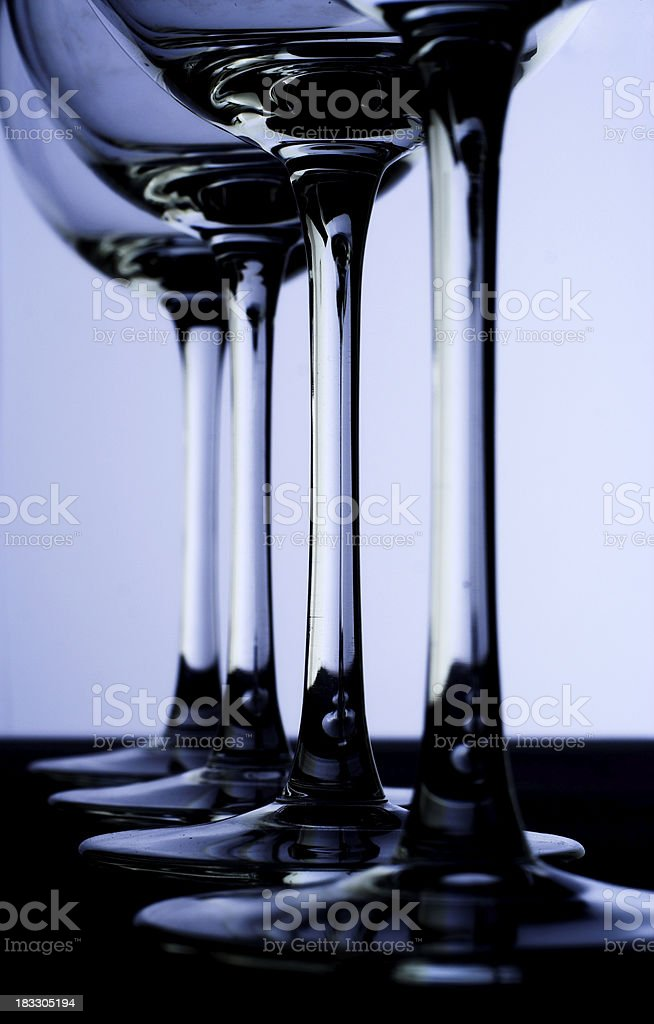 Abstract wineglasses stock photo