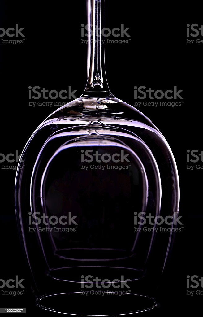 Abstract wineglasses royalty-free stock photo