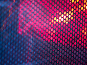 Abstract wire mesh red