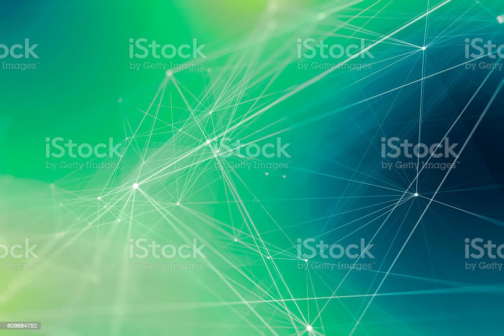 Abstract Wired Technology Background stock photo