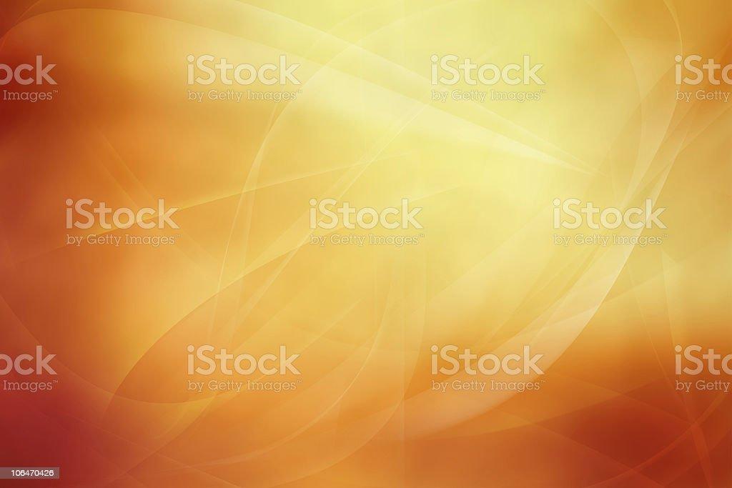 Abstract wispy orange background stock photo