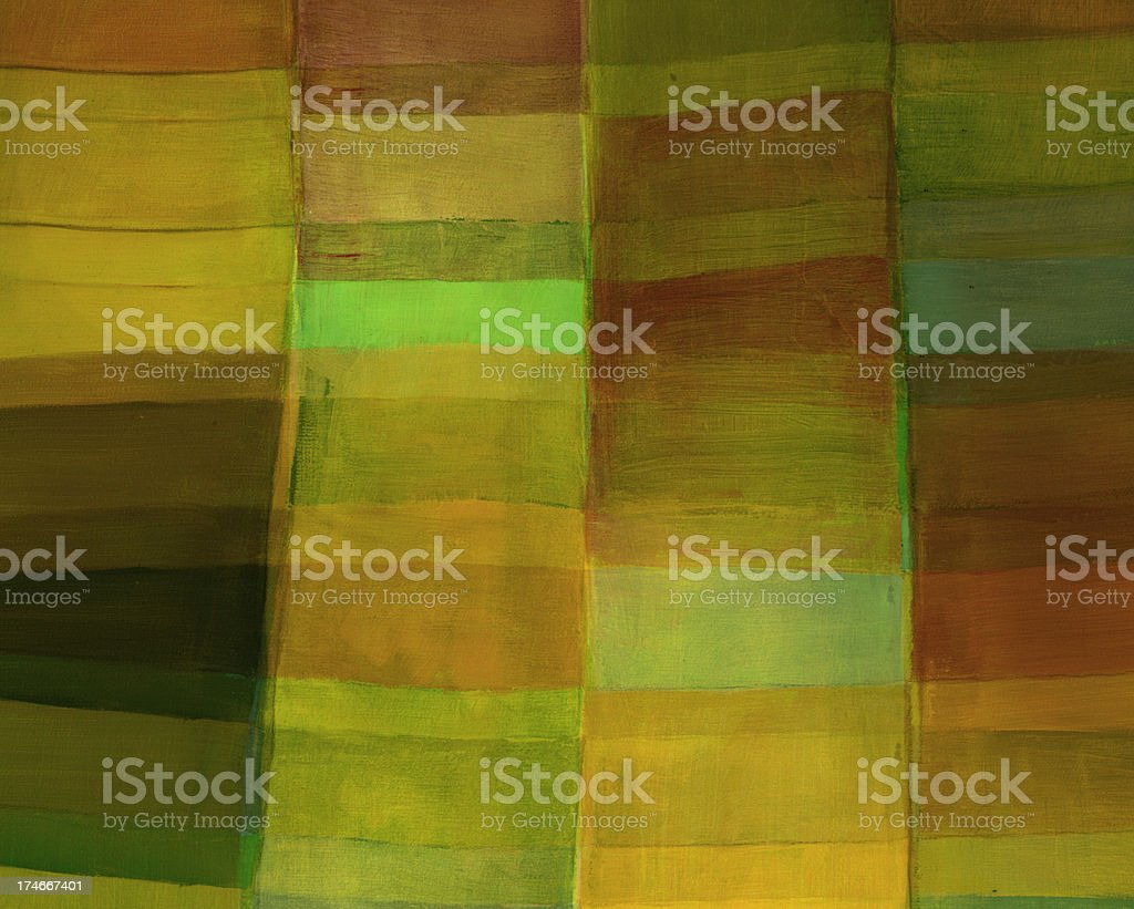 Abstract with Green and Orange Rectangles royalty-free stock photo