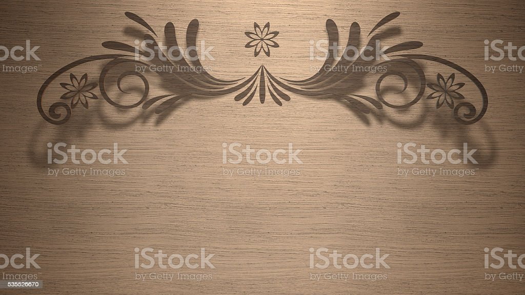 Abstract wood cut style royalty-free stock photo