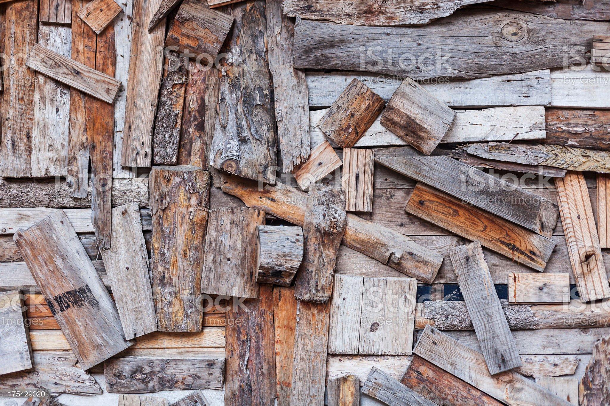 Abstract Wood Wall royalty-free stock photo