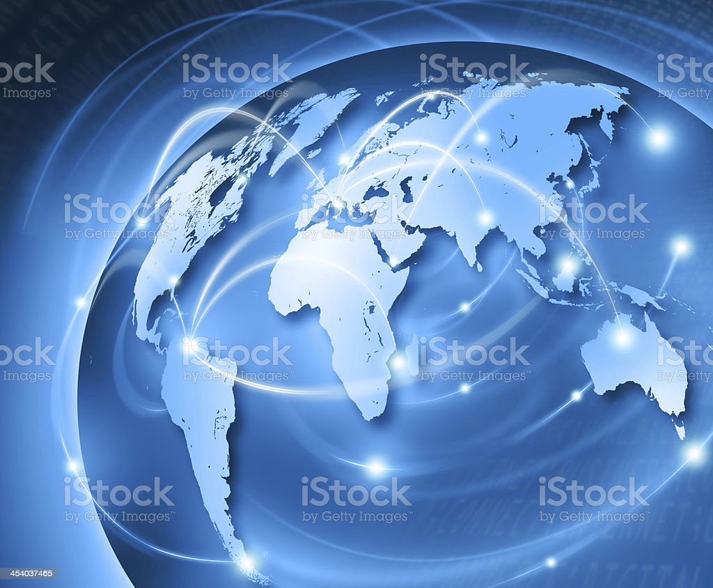 abstract - world connect stock photo