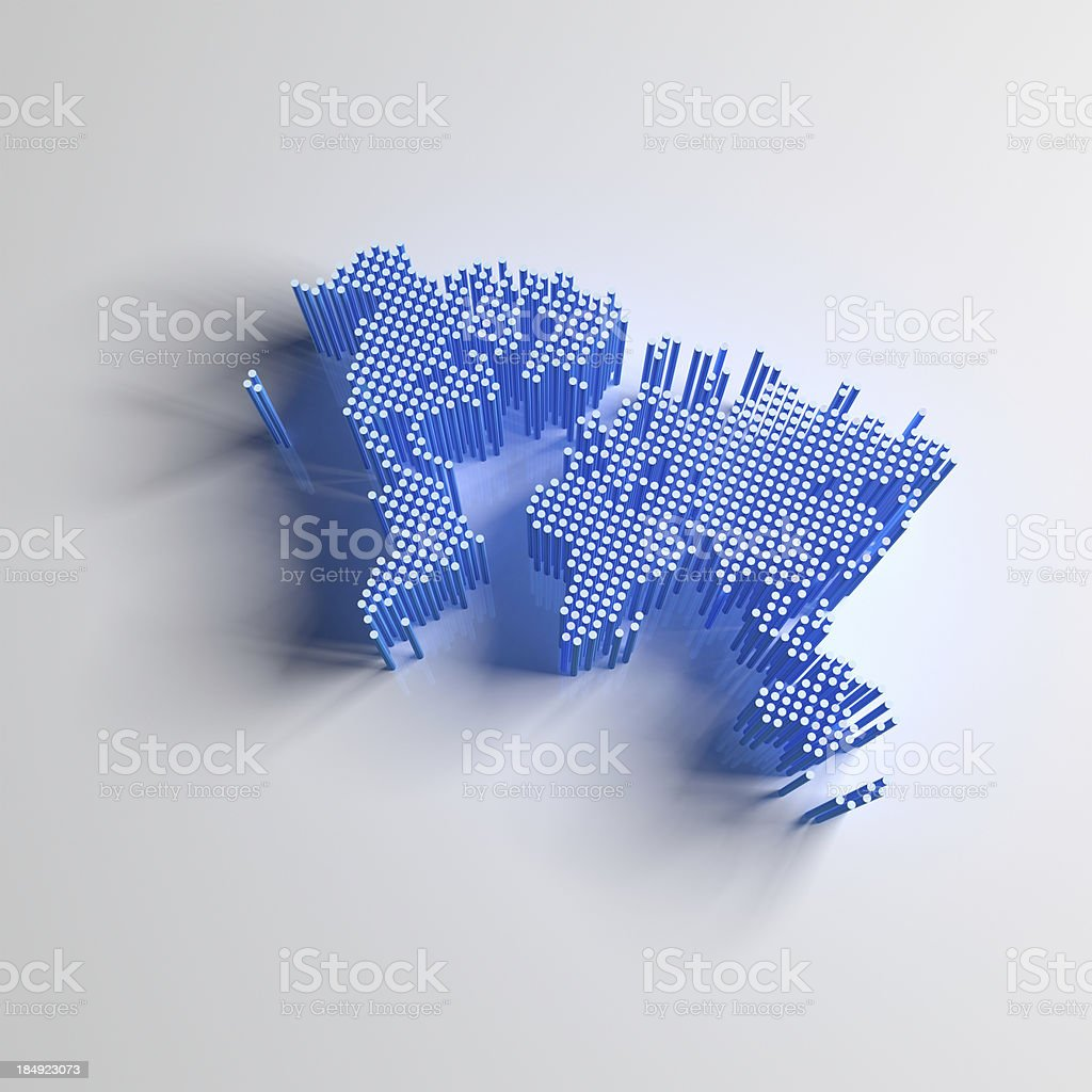 Abstract World Map royalty-free stock photo