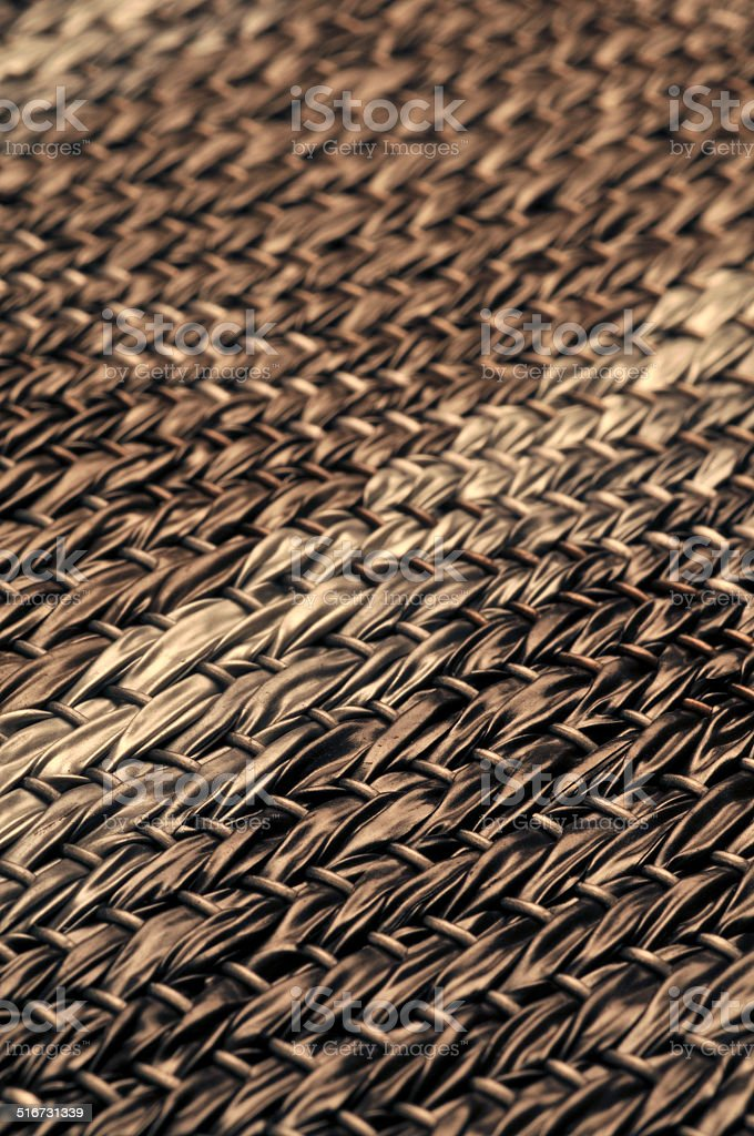 Abstract woven straw wicker background texture stock photo