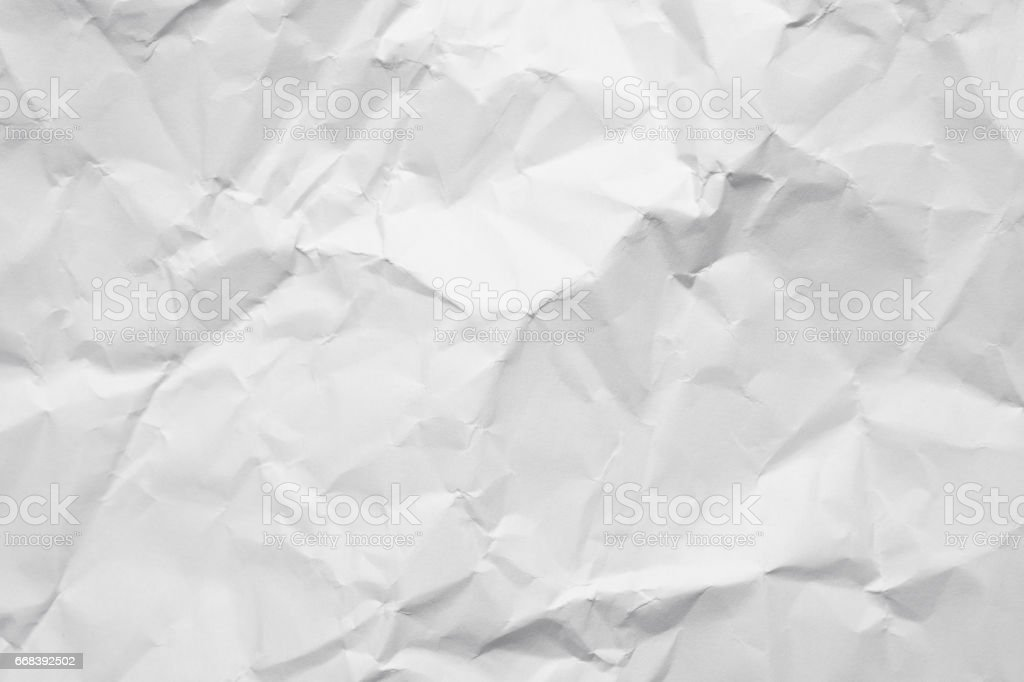 Abstract wrinkled page of paper as detail and closeup stock photo