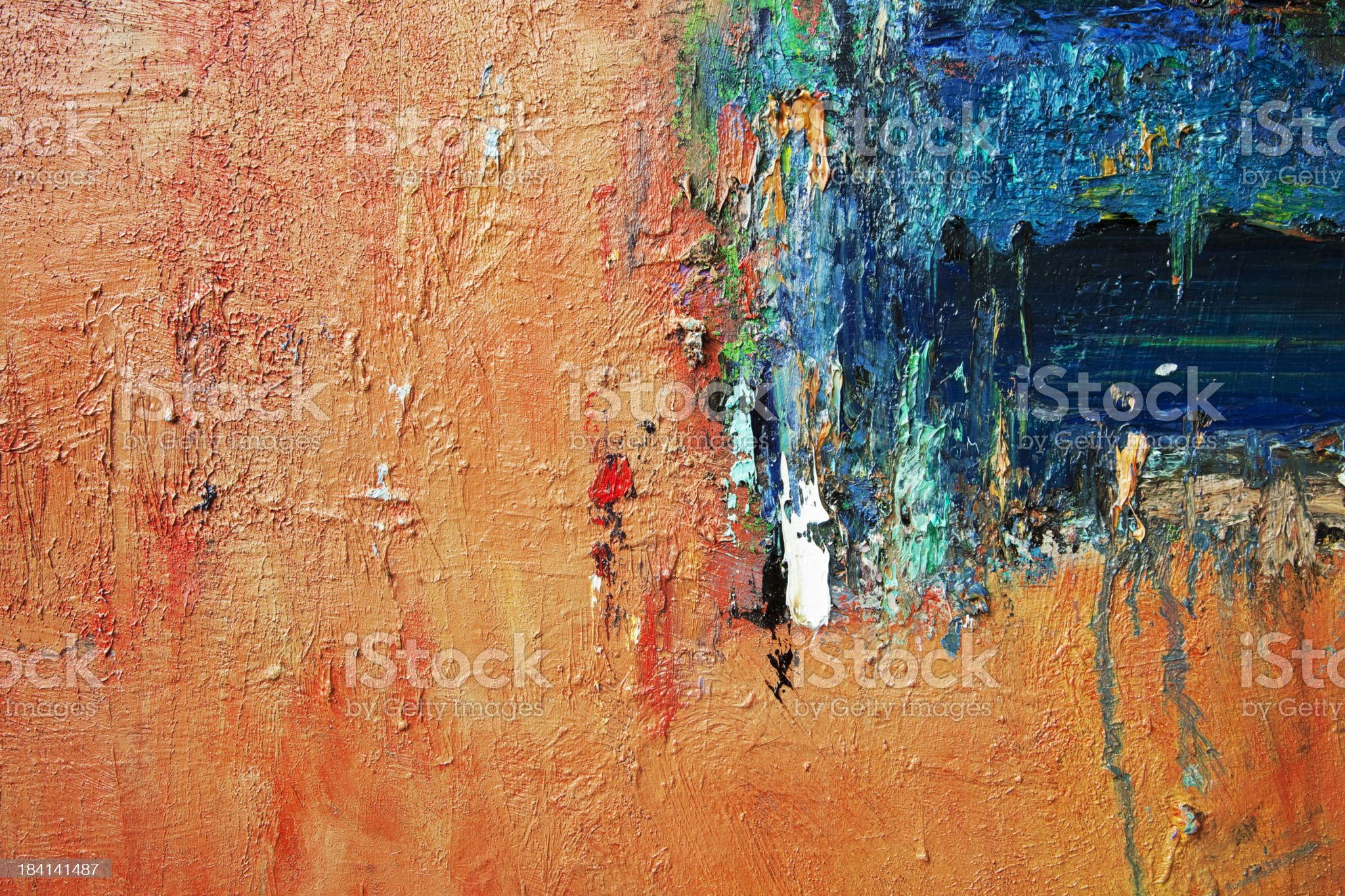 Abstract, yellow and blue  art backgrounds. royalty-free stock vector art