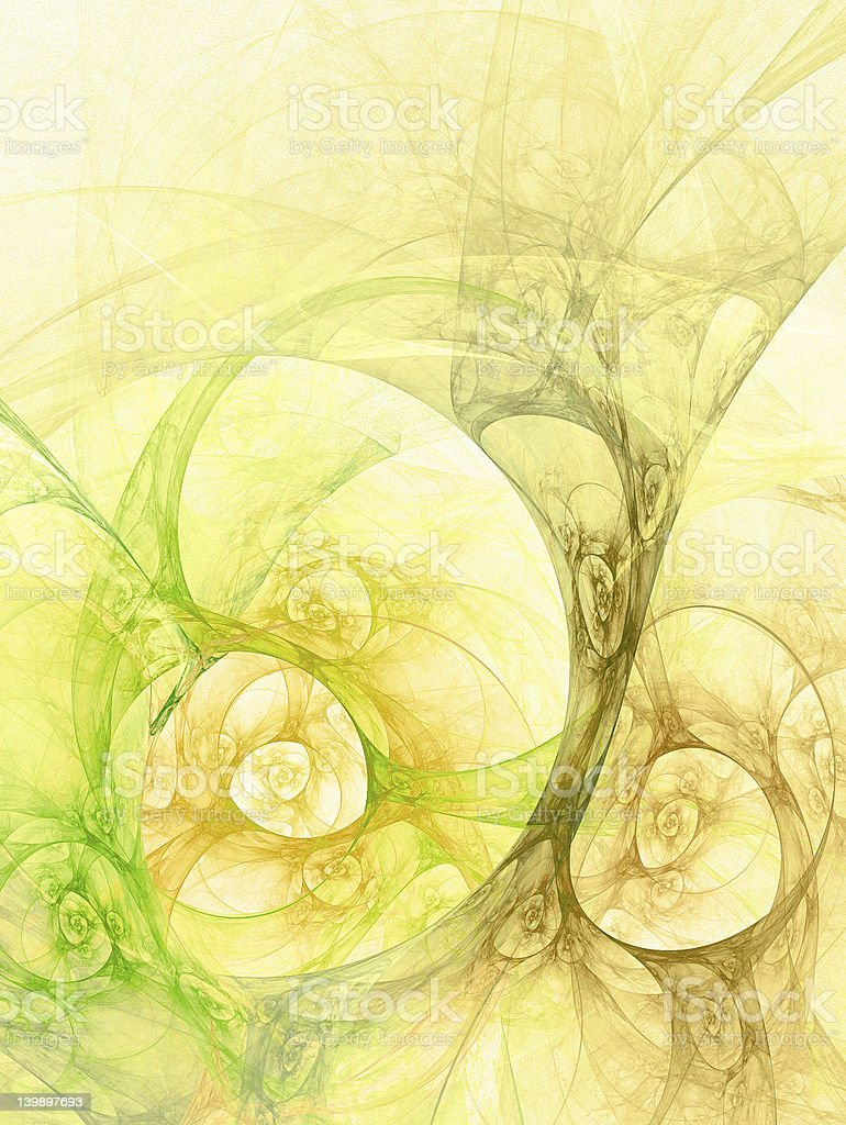 Abstract yellow and green swirl pattern royalty-free stock photo