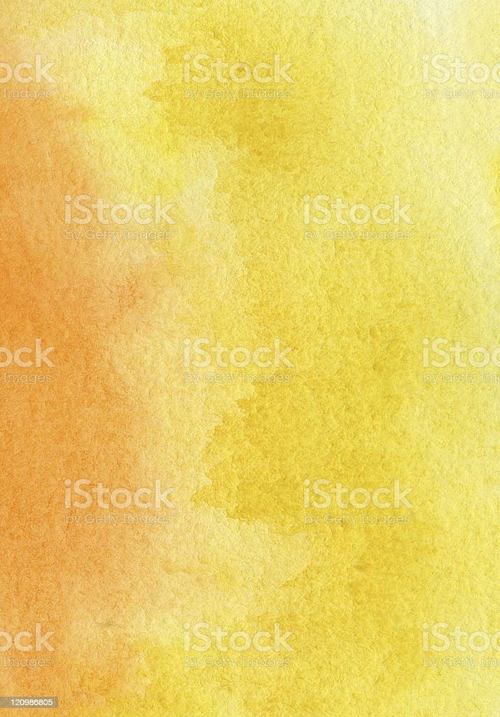abstract yellow and orange watercolor background royalty-free stock photo