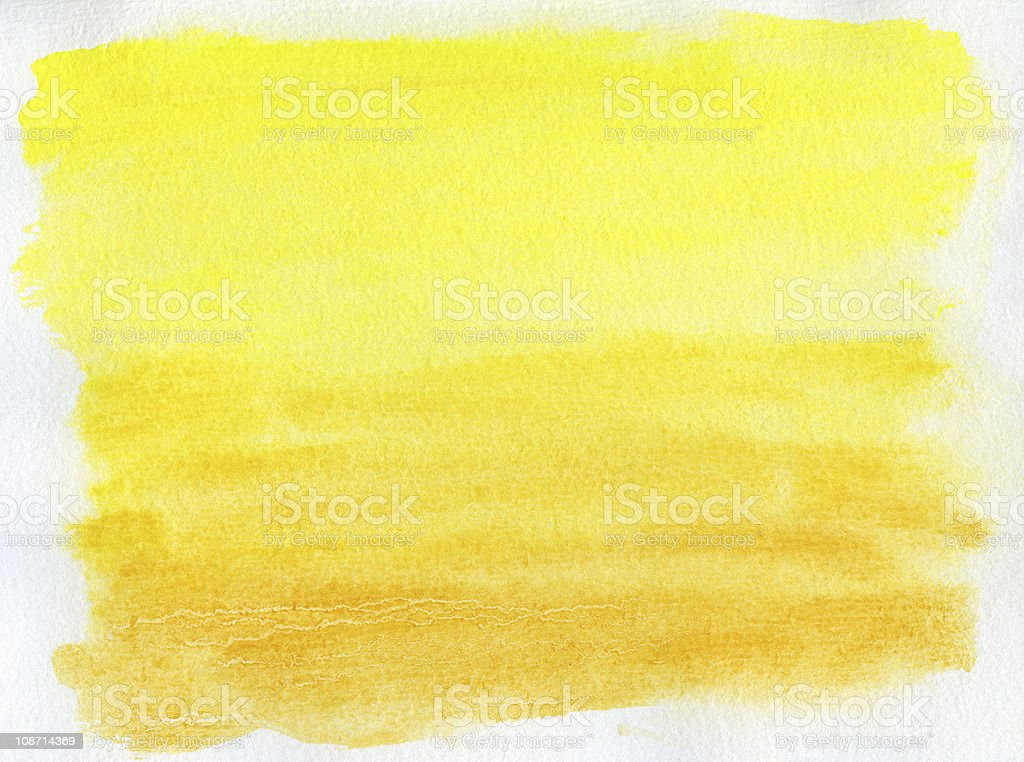 abstract yellow watercolor background royalty-free stock photo