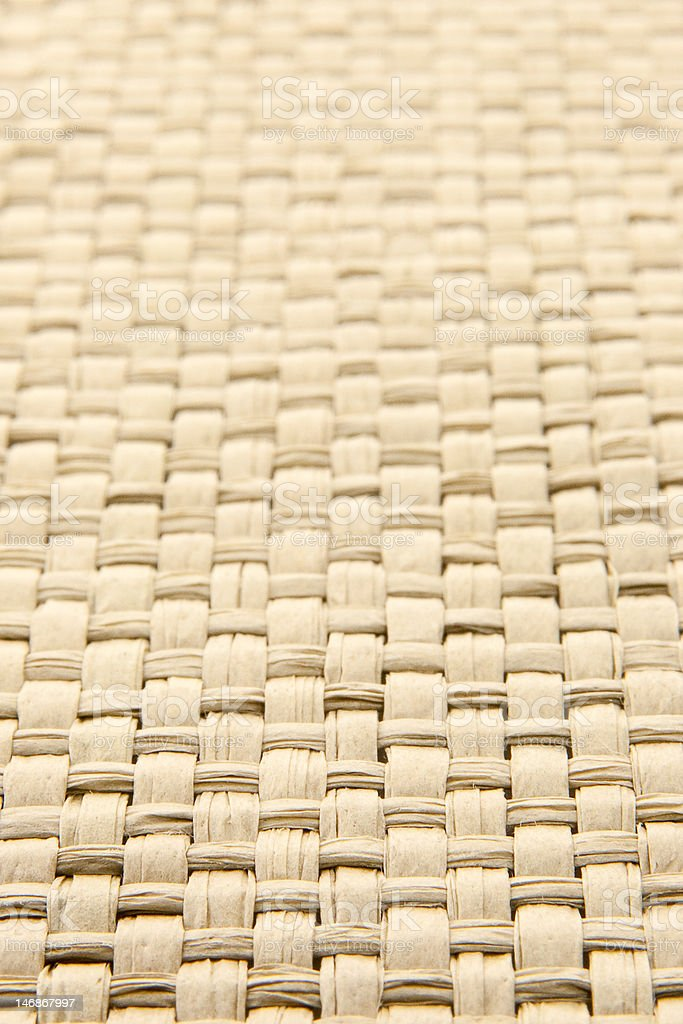 Abstract yellow woven thatch textured background royalty-free stock photo