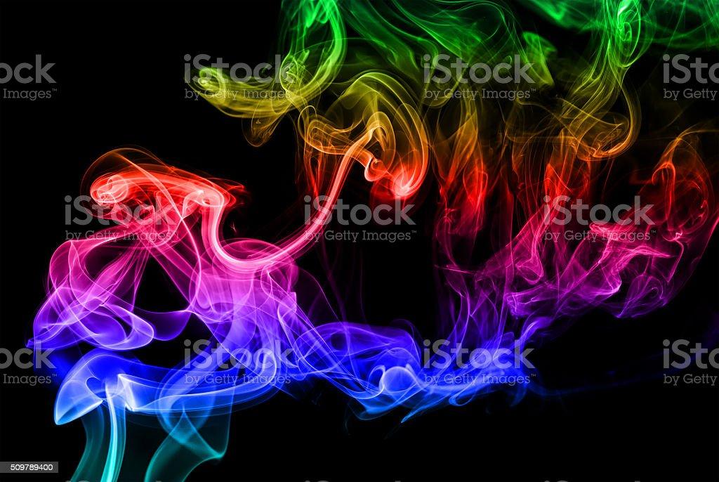 abstraction and smoke stock photo