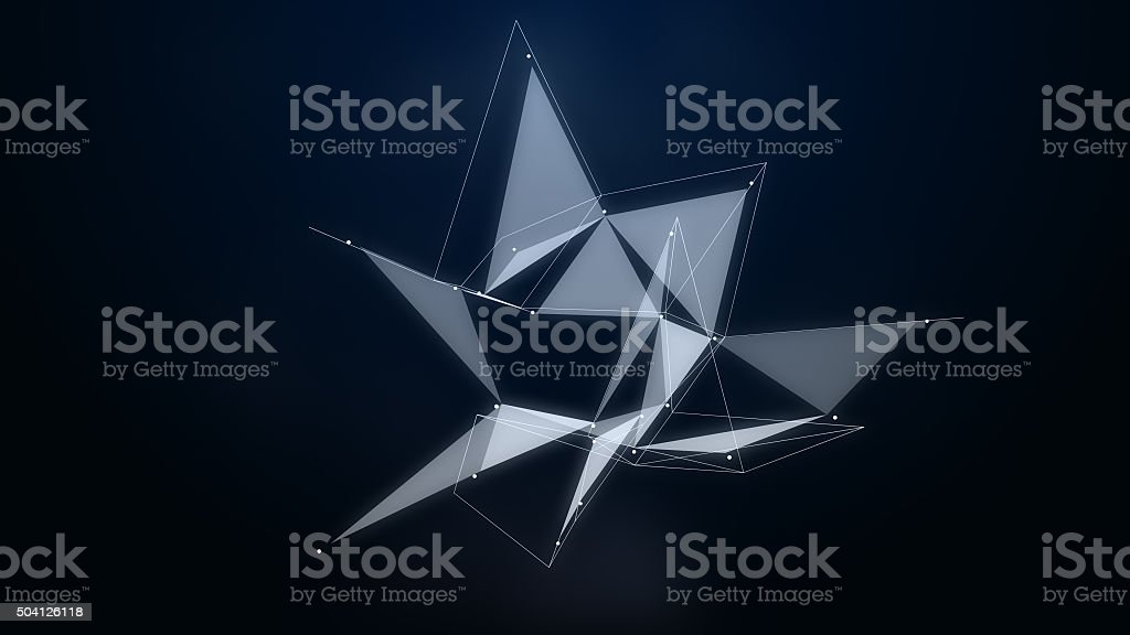 abstraction composition with lines and dotes stock photo