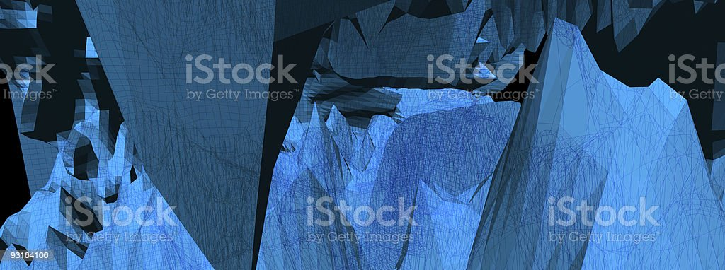 3D Abstraction w/ Wireframe royalty-free stock photo