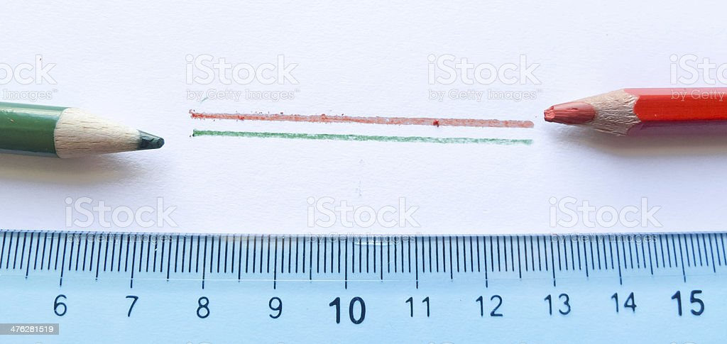 Abstraction with school tools. royalty-free stock photo