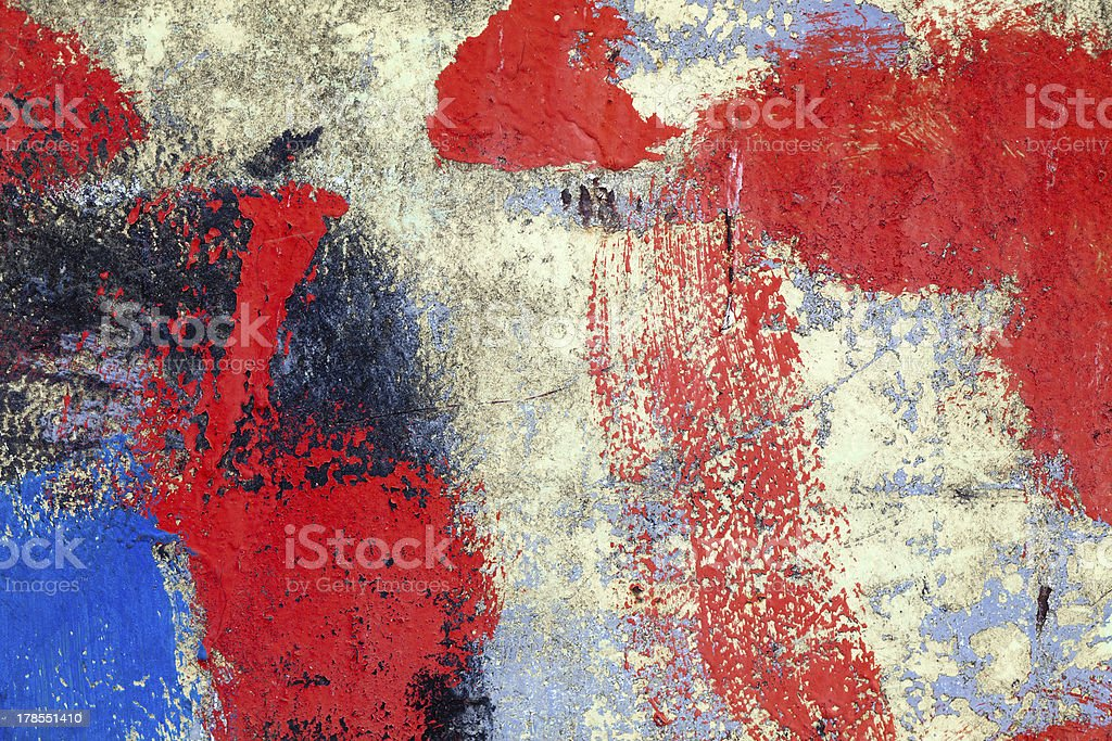 Abstractly painted wooden surface royalty-free stock photo