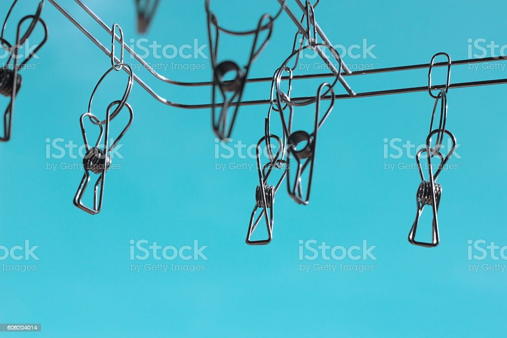 abstrck of stainless steel hanging stock photo