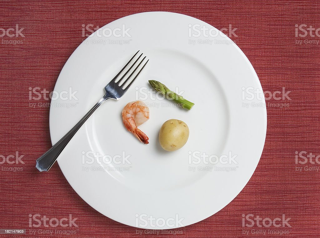 Absurdly Small Diet Meal stock photo