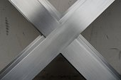 abtract metal x shape