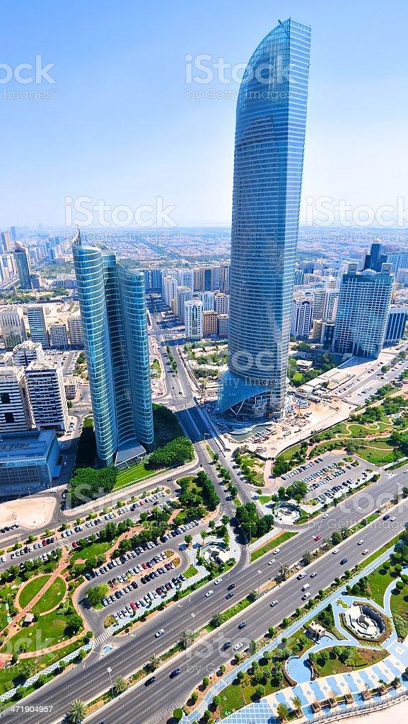 Abu Dhabi Aerial Shot stock photo