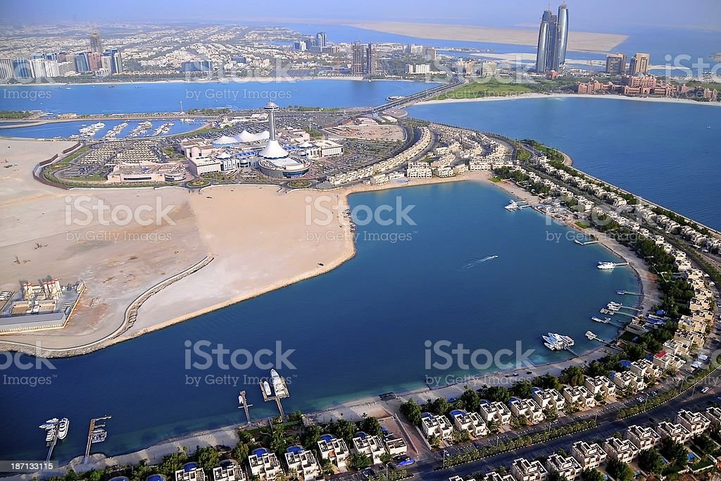 Abu Dhabi Aerial View stock photo