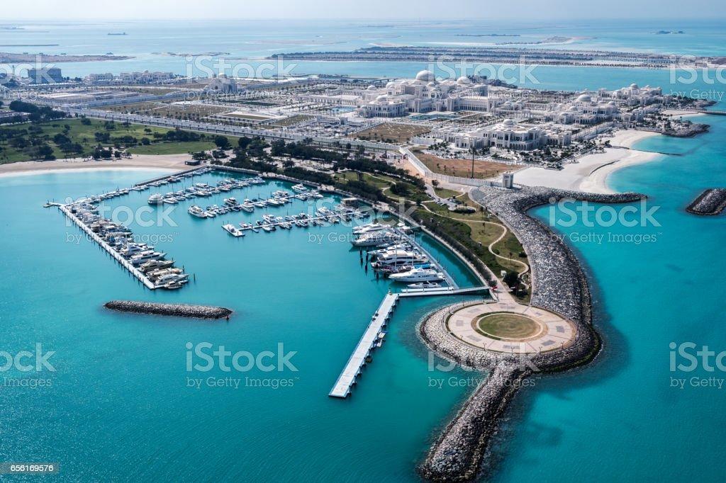 Abu Dhabi bay stock photo