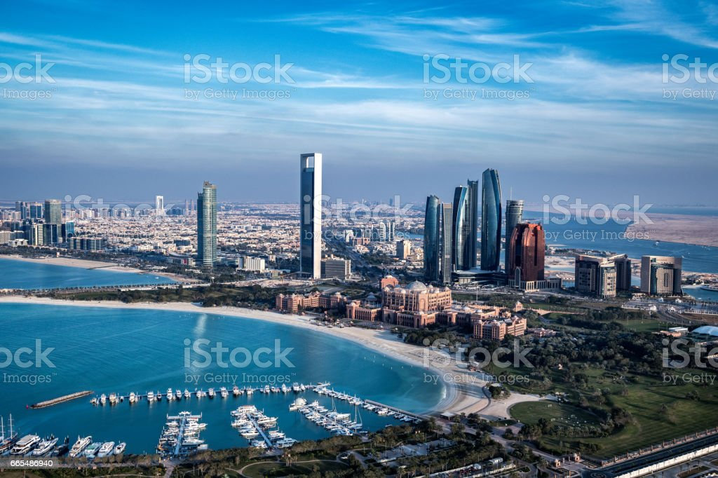 Abu Dhabi bay stock photo
