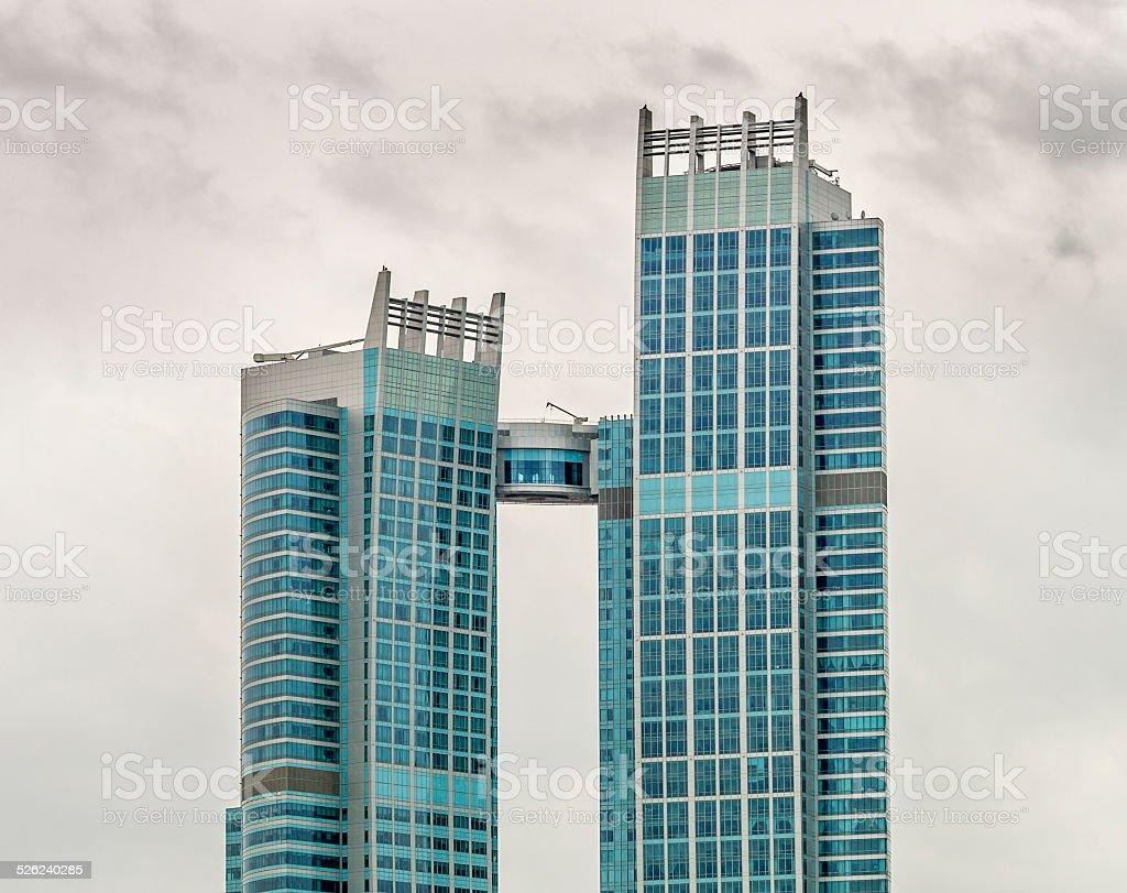 Abu Dhabi building stock photo