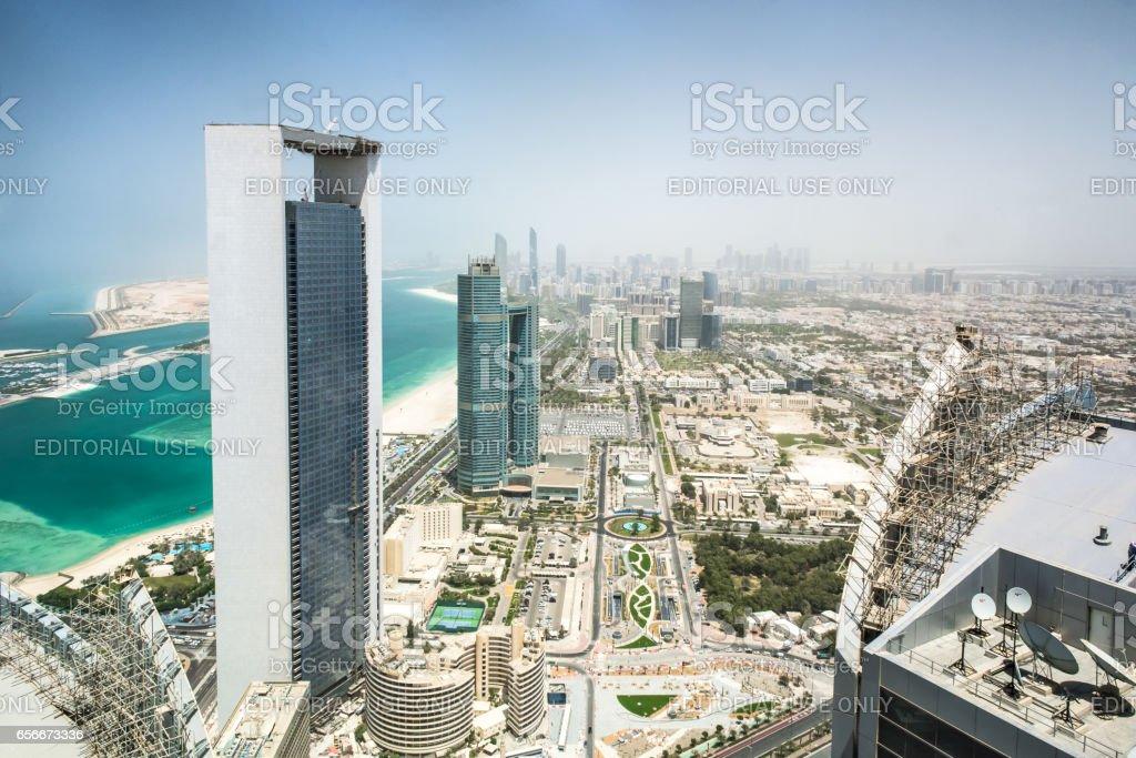 Abu Dhabi cityscape stock photo