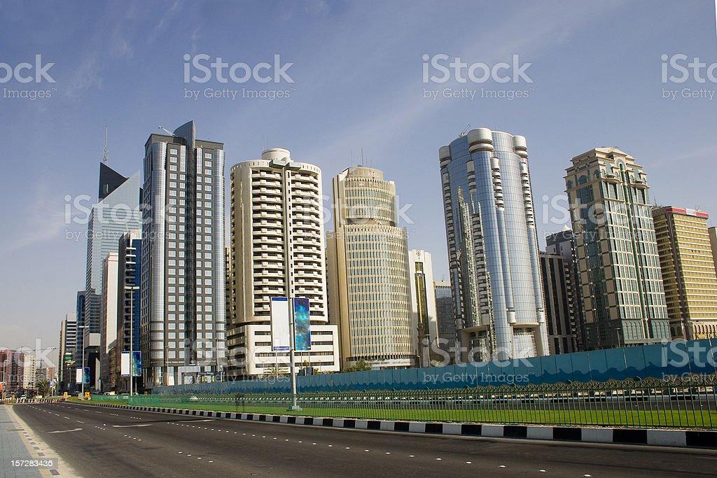 Abu Dhabi Corniche road royalty-free stock photo