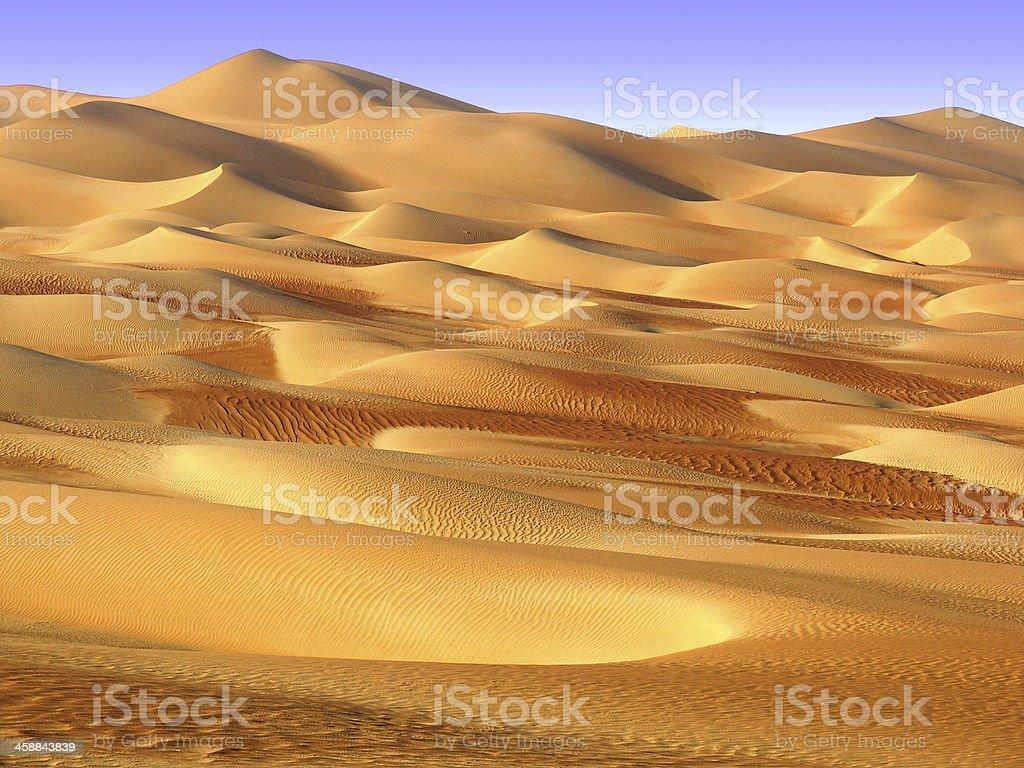 Abu Dhabi desert stock photo