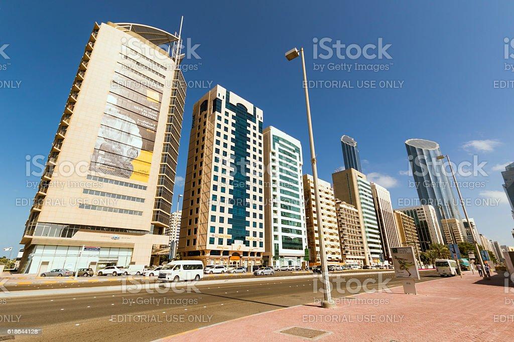 Abu Dhabi Downtown stock photo