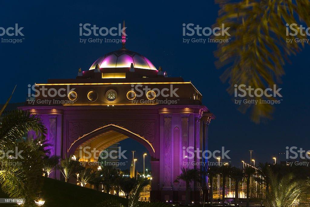 Abu Dhabi Emirates Palace stock photo