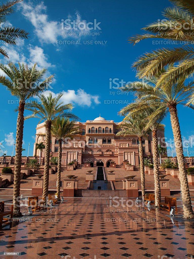 Abu Dhabi, Emirates Palace stock photo