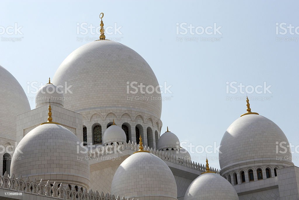 Abu Dhabi Grand Mosque royalty-free stock photo