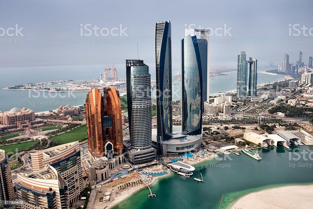 Abu Dhabi landmarks stock photo