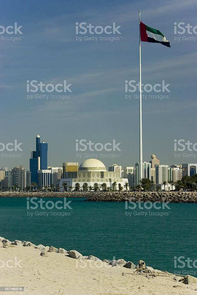 Abu Dhabi mosque and modern architecture 16207 stock photo