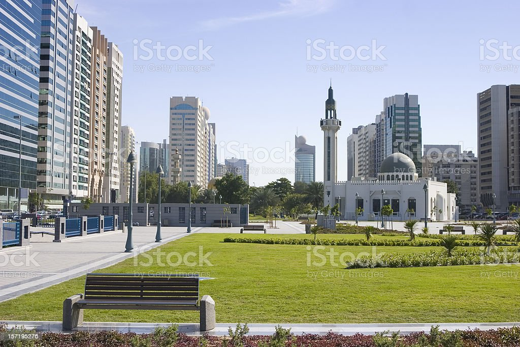 Abu Dhabi mosque royalty-free stock photo