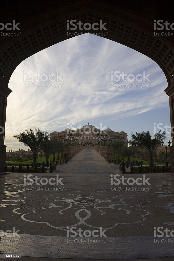 Abu Dhabi Palace royalty-free stock photo
