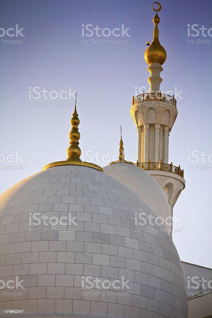 Abu Dhabi, Sheikh Zayed Grand Mosque, UAE stock photo