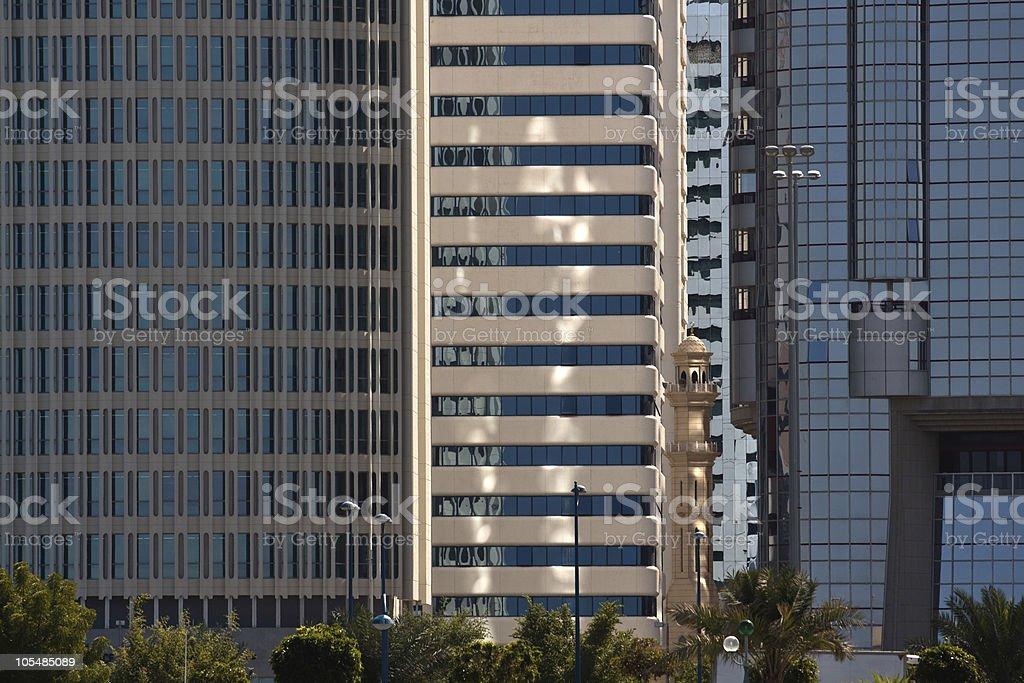 Horizonte de Abu Dhabi foto de stock royalty-free